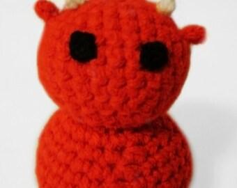 Cute Little Red Devil Crocheted