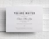 Corporate Event Invitation Company Dinner Invitation Fundraiser Invitation Print Your Own