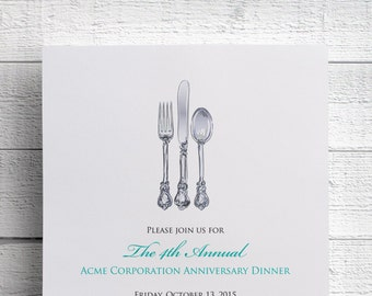 Corporate Dinner Invitation Company Dinner Invitation Fundraiser Invitation Digital File for Self-Print