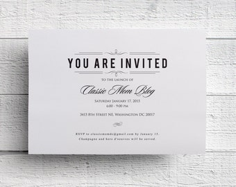 Dinner Invitation, Corporate Event, Company Dinner, Fundraiser Invitation, Charity Event, Charity Invitation, Invitation PDF