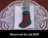 RESERVED FOR JSK1029 Hand-Knitted Christmas Flatware Stockings