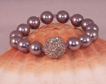 Lilac Swarovski Crystal Stretch Bracelet