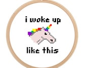 Fabulous - I woke up like this - Cross Stitch PATTERN