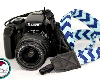 "THIN Camera Strap Neoprene 26"" NECK - Pick Fabric"