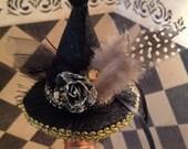 RHIANNON NIGHTS, Witch Hat Wine Bottle Stopper, Wiccan, Gypsy, Moon Goddess, Halloween, Wiccan, fantasy, novelty, magic, Black hat,