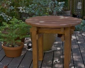 Side Table End Table Round Top in 15 colors Pine for Outdoor & Indoor Decor (in 15 Colors) handcrafted by Laughing Creek