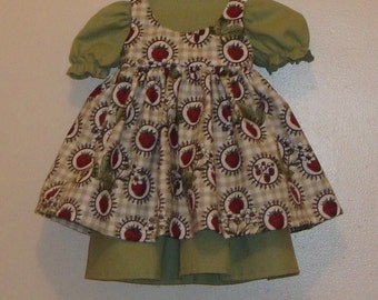 Apron and dress for American Girl or 18 inch doll.