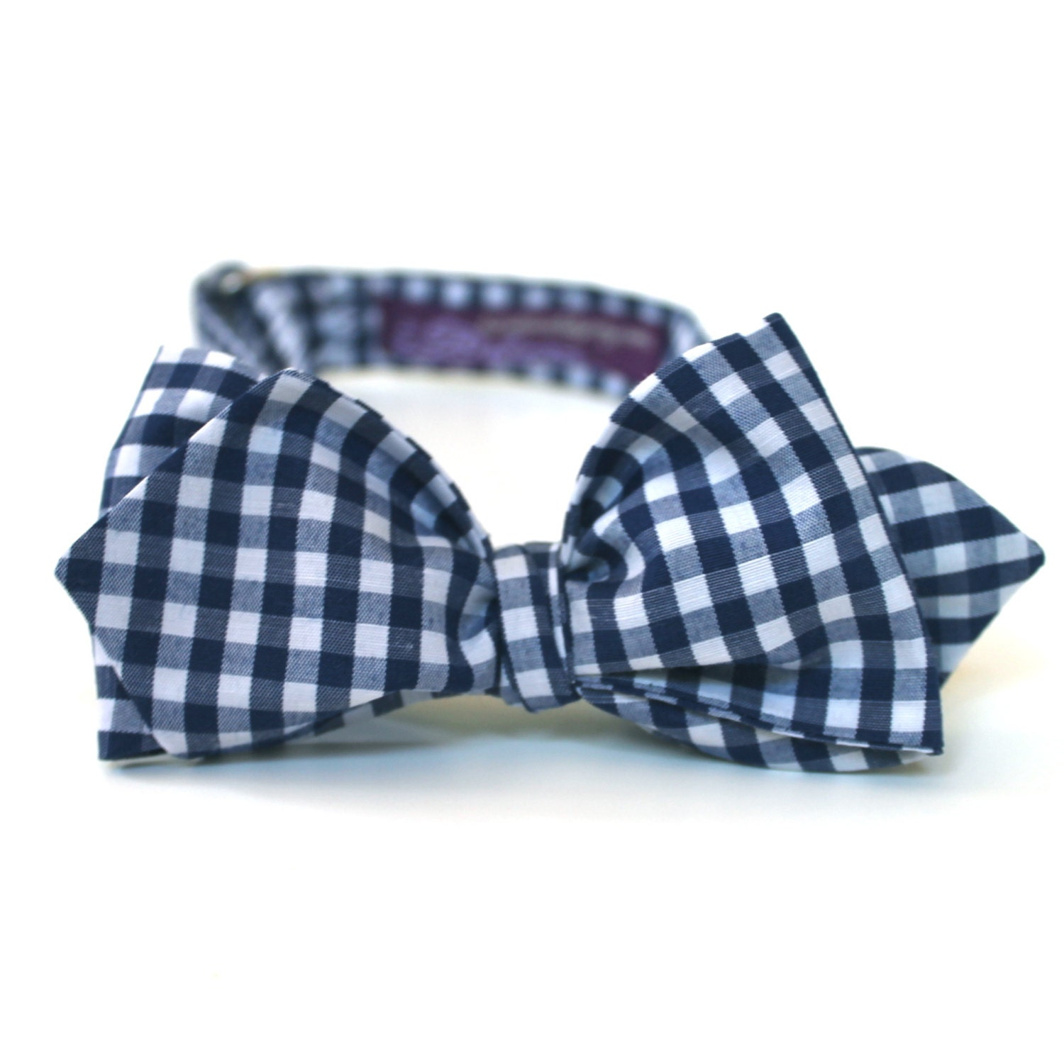 s bow tie navy blue mini gingham by handmadebyemy
