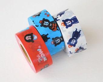 Japanese Washi Masking Tape SINGLE - Wonderful Bears for packaging, card making, scrapbooking