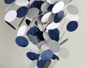 Gray, Navy and White Baby Mobile, OR  custom colors, make it fit perfectly with your nursery decor