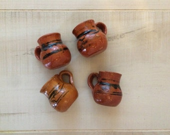 100 Mini Party Favor Mexican Pottery Mug Tequila Shot Glass