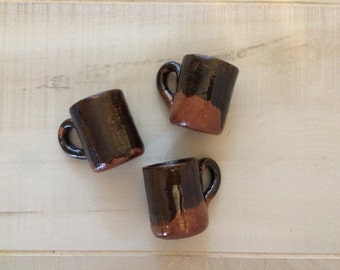 50 Mini Party Favor Mexican Pottery Mug Tequila Shot Glass #11