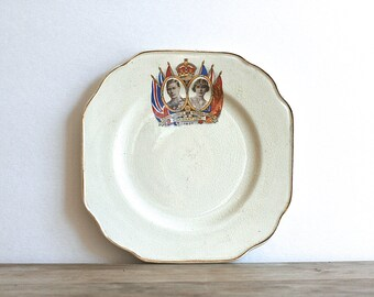 Coronation Commemorative Plate 1937 All British Manufacture