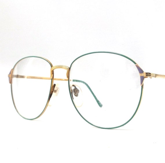 vintage 1980 s nos eyeglasses gold by recyclebuyvintage
