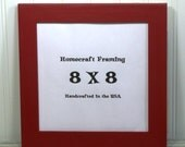 8X8 Picture Frame Wedding Frame Wood Frame Tomato Red Cottage Chic