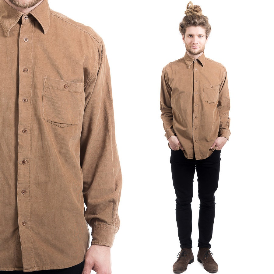 Mens Brown Button Down Shirt | Is Shirt