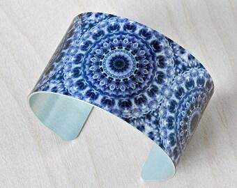 Amethyst Mandala - Aluminum Cuff Bracelet