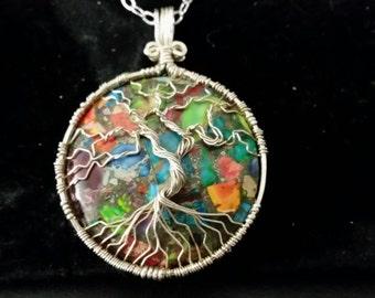 Tree of Life Sea Sediment Jasper Pendant