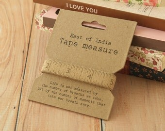 shabby chic Woven Tape Measure measuring tape