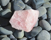 X-Large Raw Rose Quartz Healing Stone