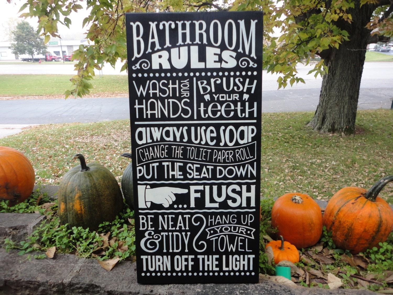 bathroom decor bathroom rules sign bathroom sign home