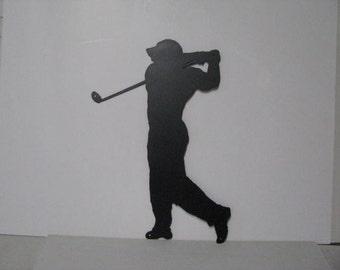 Golfer 003 CH Metal Sports Lawn Wall Yard Art Silhouette