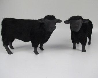 Colin's Creatures Handmade Scottish Black Angus Figures