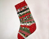 Colorful Quilted Christmas Stocking