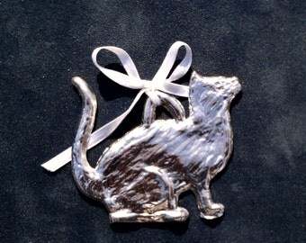 Pewter Cat Ornament