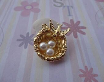 20pcs gold plated bird nest/bird egg findings 24mmx21mm