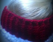 Ear warmer headband,  ear muff, crochet ear warmer, women's ear warmer, Christmas headband, ear warmer hat,  hair band, running ear warmer