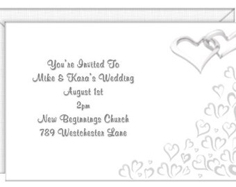 Our Wedding Day Invitations -- personalized -- with envelopes. Wedding invitations-party invitations.  Standard Postage.  (50210)