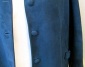 Vintage Blue Suede Jacket New Mexico Western Ranch Outerwear