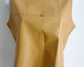 SALE Cerruti vintage kid leather sleeveless top