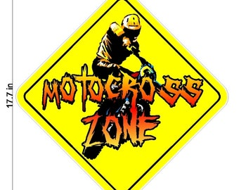 Motocross Wall Decal Removable and Repositionable Motocross Sticker