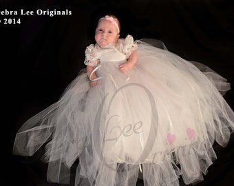 Rachel Christening Gown, Christening Dress  / Blessing Gown, Blessing Dress