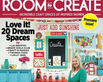 ROOM TO CREATE Magazine - Brand New! January 2015