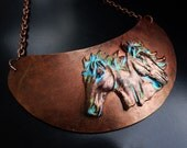 Free spirit polymer clay collar necklace
