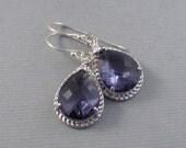 Blue Lavender,Earring,Amethyst Earrings,Silver Earrings,Lavender Earring,Blue Earring, Sapphire Earring,Blue Stone,Purple Valleygirldesigns