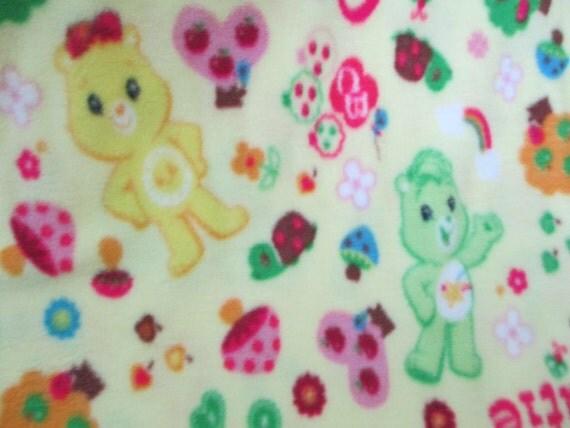 Care Bears Cuties Yellow Fleece Fabric Sold By