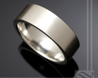 Modern Satin Finish Wedding Band