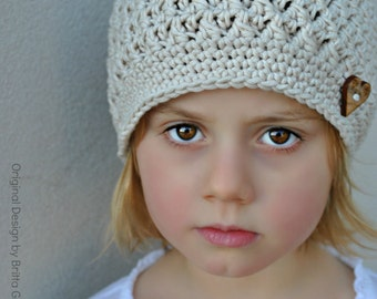 Crochet Hat Pattern in Baby, Toddler and Child Sizes available as instant download No.108