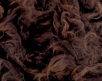 Dark Brown Alpaca Fleece
