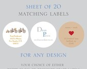 Return Address Labels,  Address Labels, Labels, Circular Address Labels, Stickers, Matching Address Labels