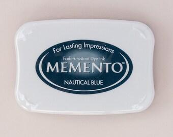 SALE Nautical Bluel Memento Dye Ink Pad
