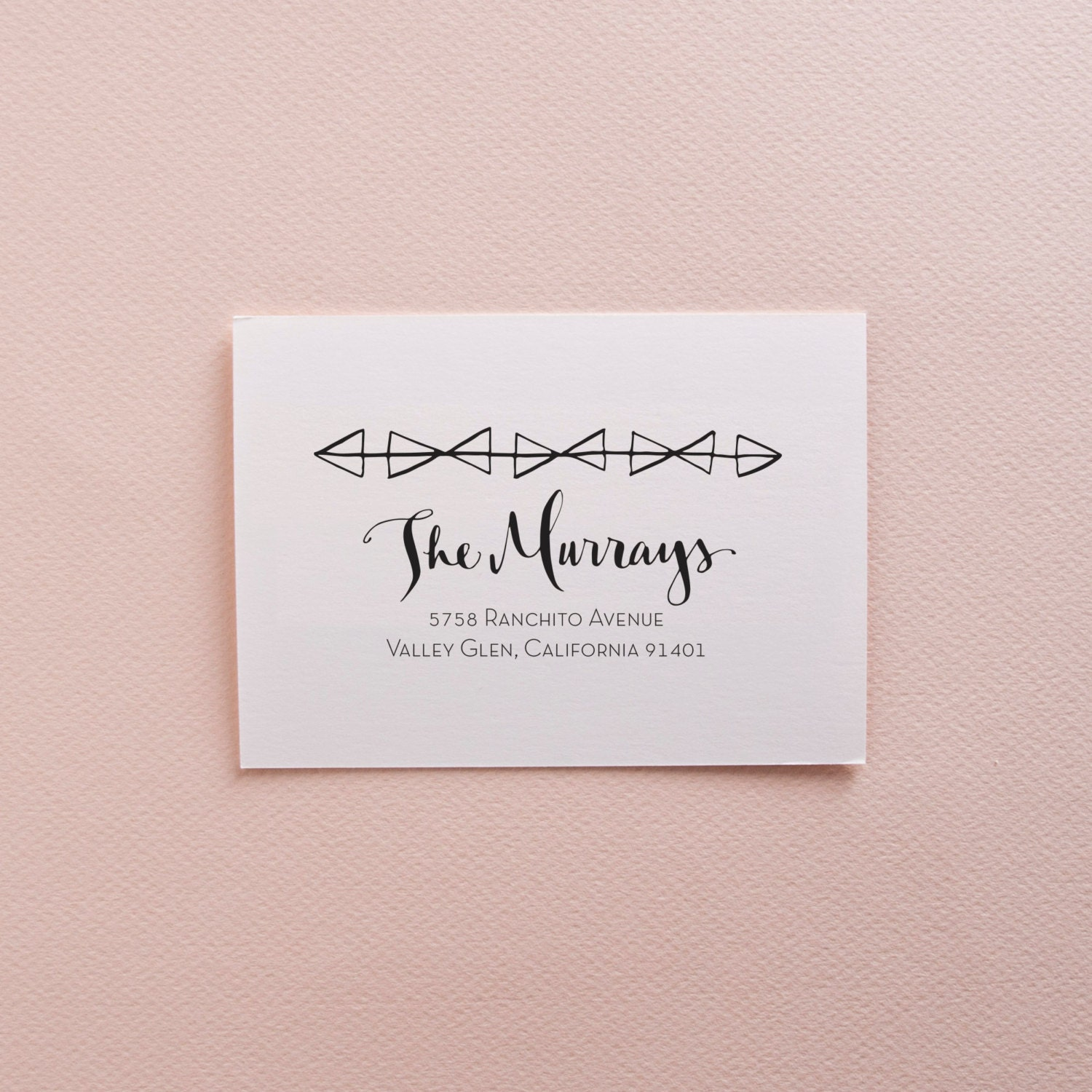 Geometric Calligraphy Address Stamp