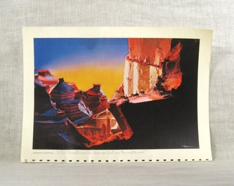 Grand Canyon Image , Grand Canyon , TWA Calendar , 1949 , Frameable Images , Travel , Vacation , Advertising , Rex Werner , Photography