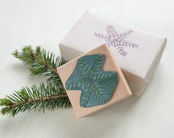 Winterly rubber stamp: Snow star