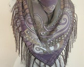 Tasseled scarf // Turkish scarf // Wool Scarf // Thick winter scarf