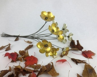 Golden Glow Bouquet of Tin Forever Blooming Flowers